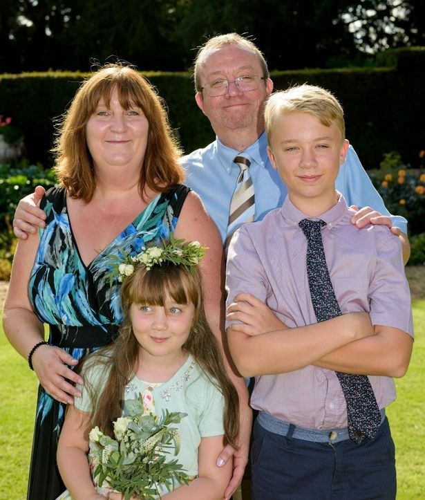 Martine with Paul and their two children before his death