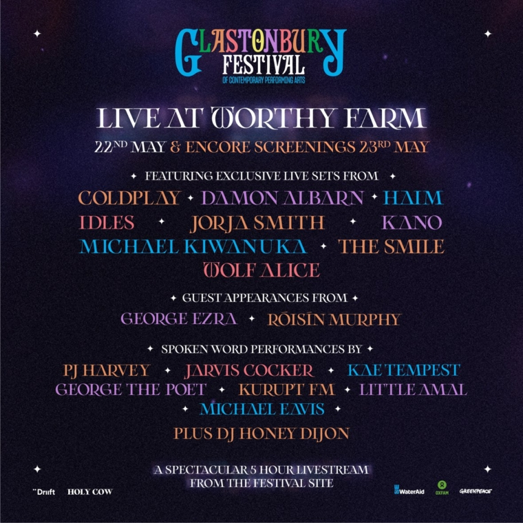 Live at Worthy Farm  – the livestream concert  – is on tonight with the chance for catch-up on Sunday (Image: Glastonbury Festival)