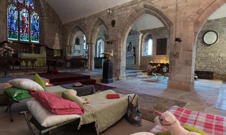 'Champing' (camping in old churches) at Holme Lacy