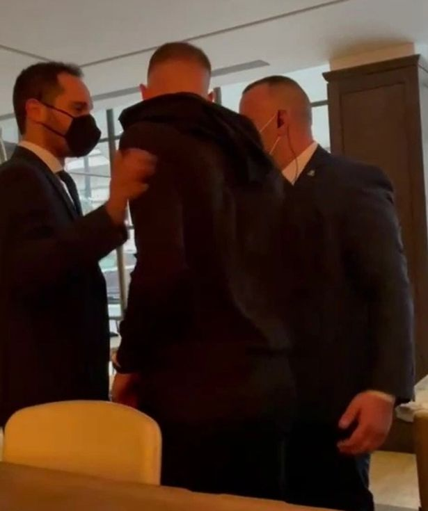 Barkley was escorted out by the hotel's security team