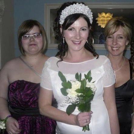 Karen Reed at her wedding to herself in 2010