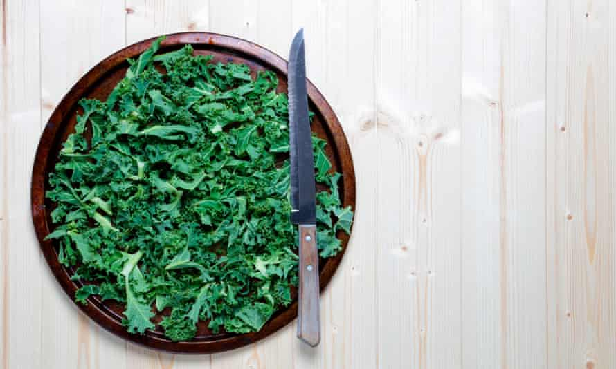 Kale … deliciously salty.