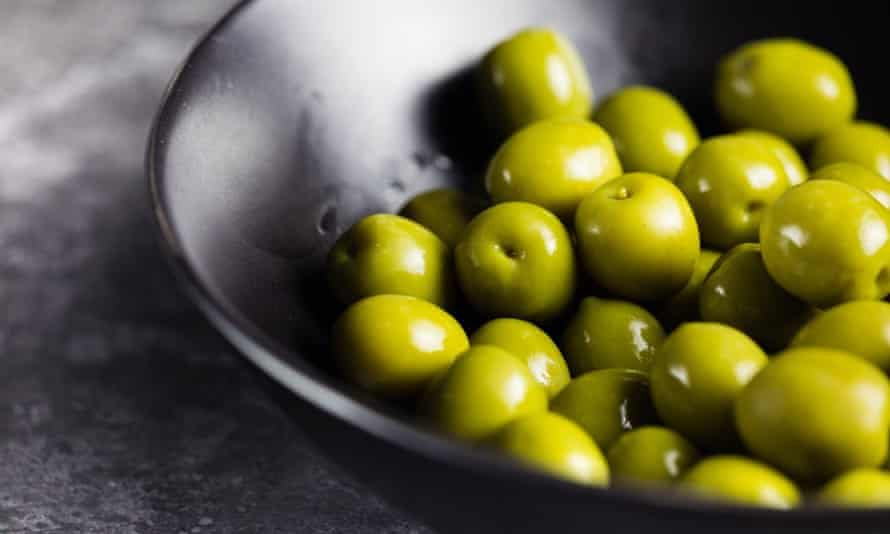 Olives … perfect as part of a veggie pizza base.