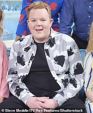 Transformed: Colson has shed an impressive amount of weight and become a fitness enthusiast after 'self-harming' with food, saying he was fed up of always being 'the fat kid' (pictured in 2018)