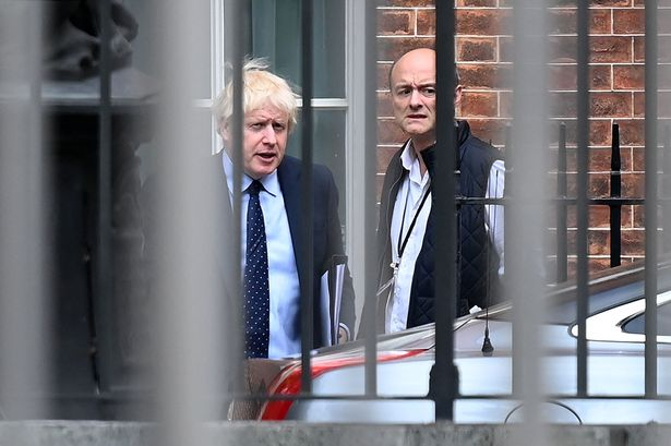 Boris Johnson with Dominic Cummings, who is set to give blockbuster evidence on Wednesday