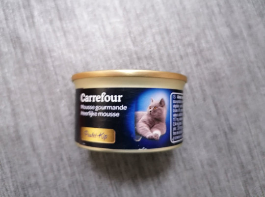 PIC FROM Kennedy News and Media (PICTURED: THE TIN OF CAT FOOD THAT WAS MISTAKEN FOR A 'GORGEOUS' PATE) A mum was left 'howling with laughter' after her elderly parents asked her to re-buy the ???gorgeous??? p??t?? she had got for them - only to discover they had eaten a tin of CAT FOOD. Angela Holloway has been doing the shopping for her mum Margaret and step-dad Donald throughout the pandemic but usually separates the pet food from the rest of the shop. However the 59-year-old upholsterer was confused last Wednesday [May 12] when her mother told her they had eaten ???a really lovely dinner of absolutely gorgeous p??t?? and baked bread' - and even asked her to buy it again. DISCLAIMER: While Kennedy News and Media uses its best endeavours to establish the copyright and authenticity of all pictures supplied, it accepts no liability for any damage, loss or legal action caused by the use of images supplied and the publication of images is solely at your discretion. SEE KENNEDY NEWS COPY - 0161 697 4266