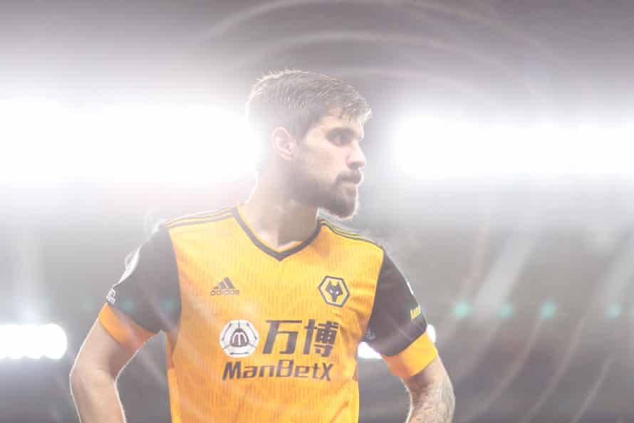 Ruben Neves of Wolverhampton Wanderers looks on following the Premier League match between Newcastle United and Wolverhampton Wanderers at St. James Park.