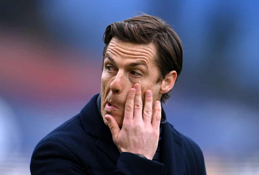 Fulham manager Scott Parker during the match with Crystal Palace at Selhurst Park.