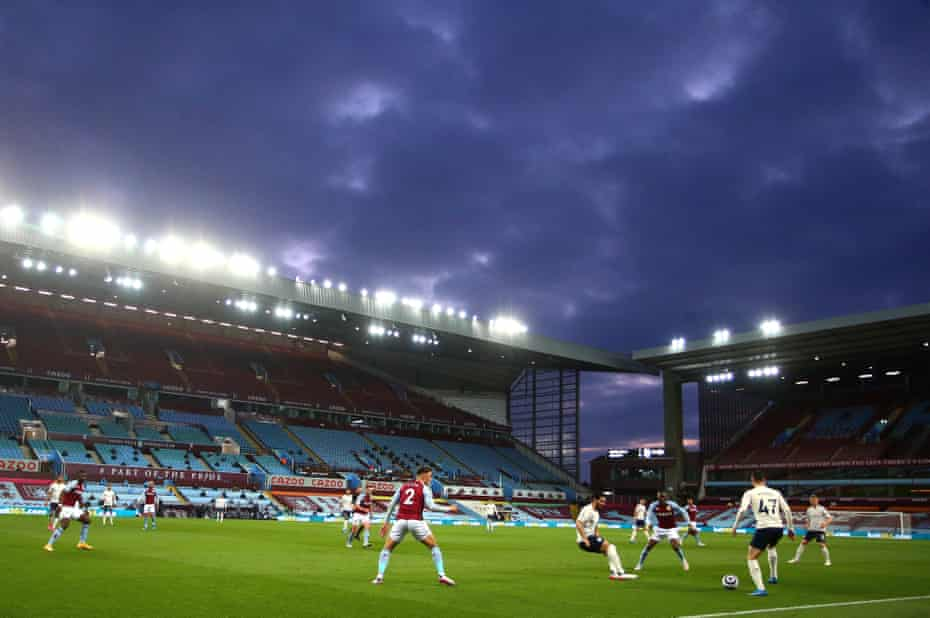 A general view of the match during the Premier League match between Aston Villa and Manchester City at Villa Park.