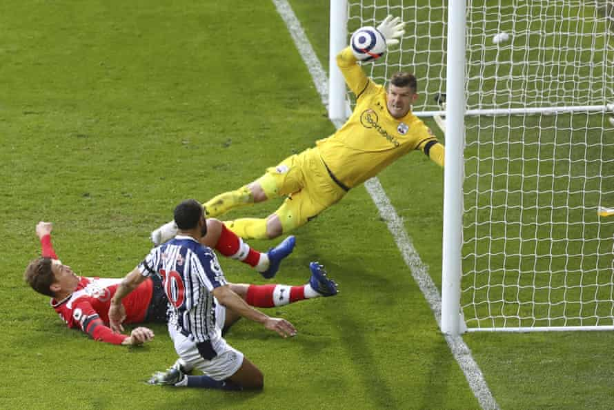 West Bromwich Albion's Matt Phillips scores his side's second goal against Southampton at The Hawthorns.