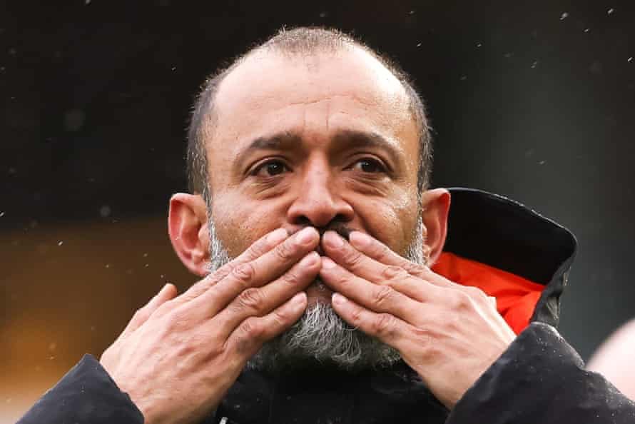 Nuno Espirito Santo bids farewell to the Wolverhampton Wanderers supporters after the last game of the season.