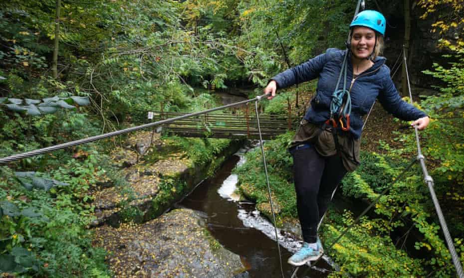 Via Ferrata in Yorkshire - The How Stean Gorge