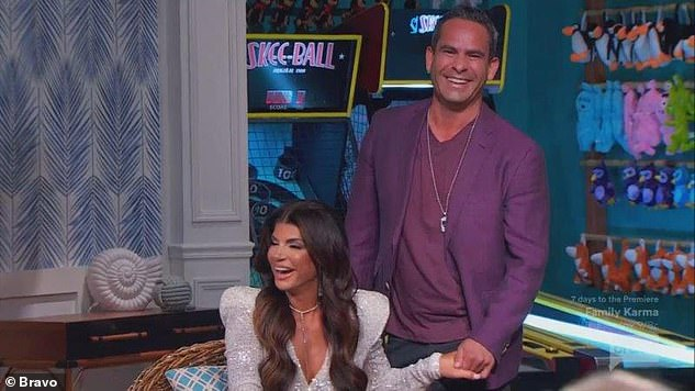 Loved-up couple:Thursday's reunion special also featured a surprise appearance from Teresa's beau Luis