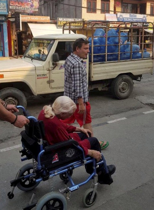 Sean O'Sallaigh and his mother Mary O'Niel in Nepal. See SWNS story SWTPalzheimer's. A son has described how his mum's Alzheimer's disease improved as he took her travelling across the world in her final years. Sean O'Sallaigh, 44, was a full time carer for his mum, Mary O'Niel, and decided to take her to Nepal to escape the harsh Irish winter. Sean was amazed when Mary, who had Alzheimer's disease, started walking and talking again during their trip. He decided to keep travelling with her until she died in South Africa 18 months later.