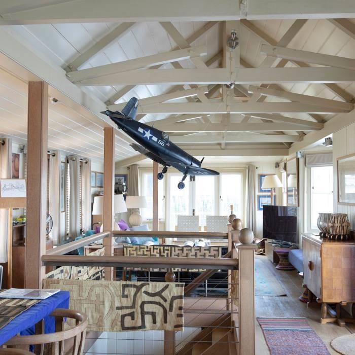 The open-plan upper deck...