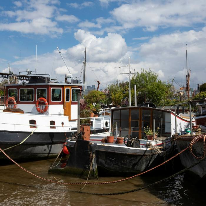 'Christiania for the barge-oisie': Downings Road Moorings, aka Garden Barge Square, is next to The Harpy