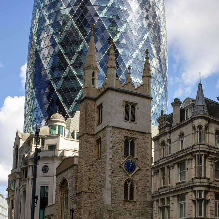 A stroll across the river to explore the City's historic churches might take in St Andrew Undershaft...