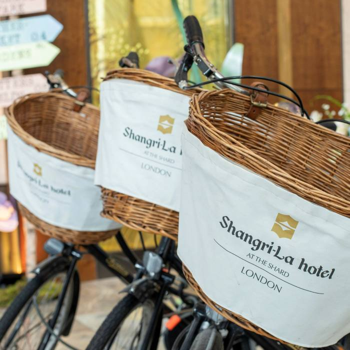 Guests at the Shangri-La can explore the neighbourhood on one of the hotel's bicycles...
