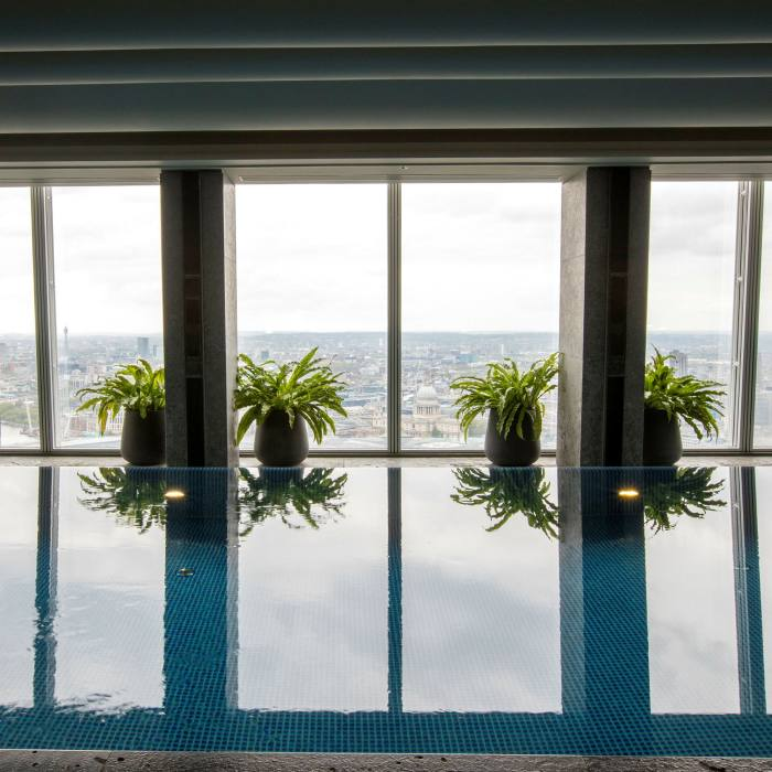 ...before soaking up the view from the infinity pool on the 52nd floor of The Shard