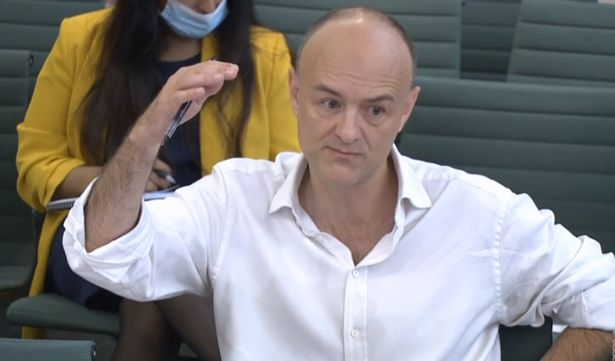 Dominic Cummings, former Chief Adviser to Prime Minister Boris Johnson, giving evidence to a joint inquiry of the Commons Health and Social Care and Science and Technology Committees