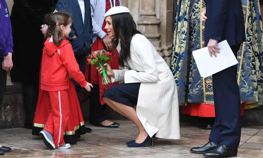 The Duchess of Sussex wearing an Amanda Wakeley outfit in 2018