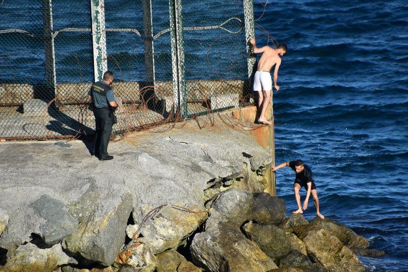 Around 3,000 Moroccans illegally enter Spain's Ceuta enclave -spokesman