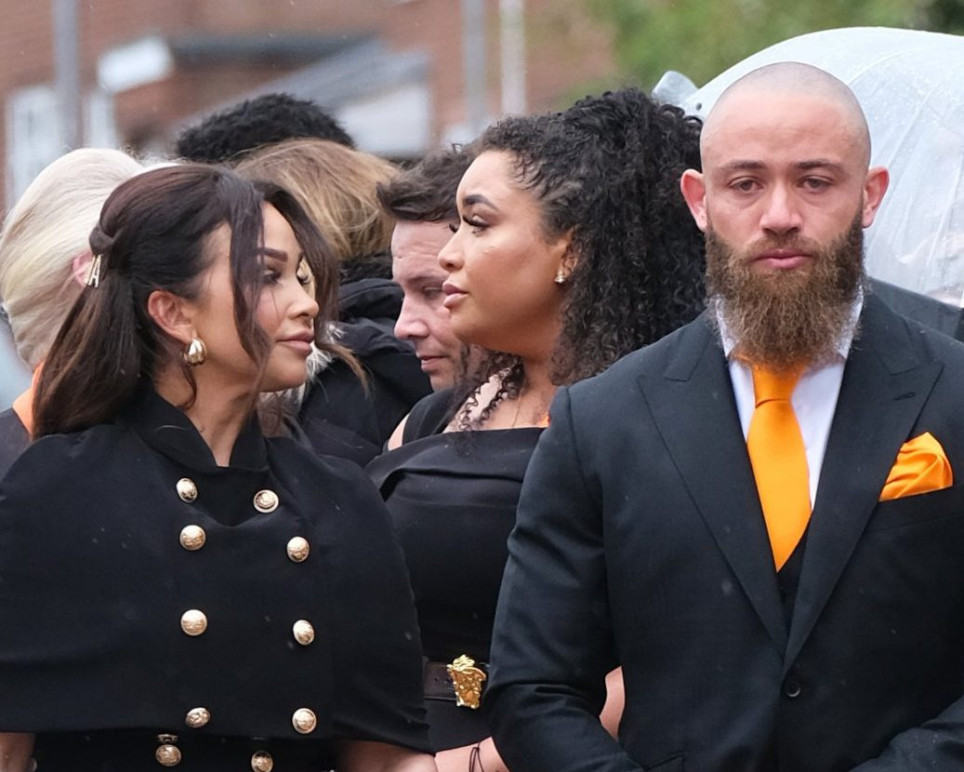 Ashley Cain and Safiyya Vorajee at Ashley Cain's daughter, Azaylia's funeral.