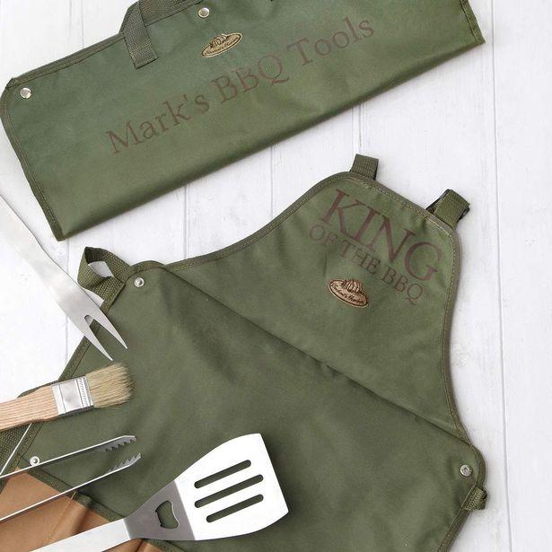 Personalised BBQ Tools & Apron Set