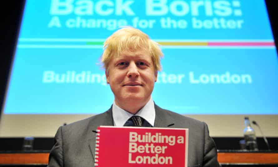 Boris Johnson launching his housing manifesto as candidate for mayor of London, 17 March 2008.