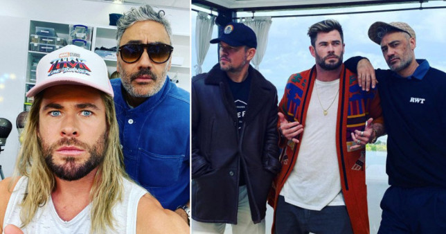 Chris Hemsworth pic with Taika on set of Thor, Love and Thunder