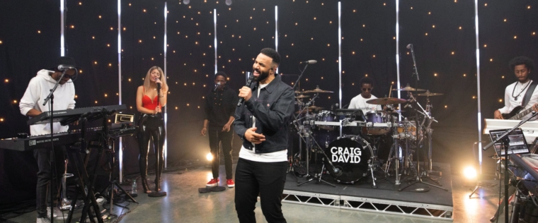 Craig David ?Born To Do It? online show 8 May 2021 Image from Laura Sinclair