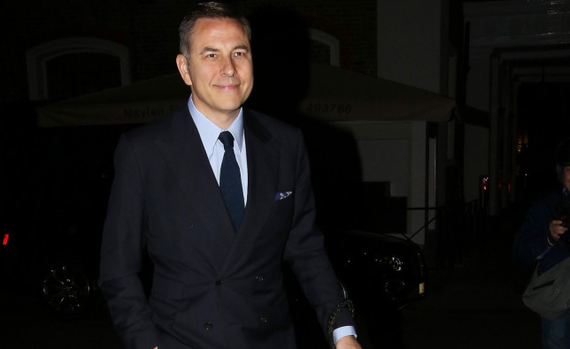 NORMAL NON EX PRICES DAVID WALLIAMS GOES OUT FOR DINNER WITH KEELEY HAZEL AT HARRYS BAR IN MAYFAIR MONDAY 10TH MAY 2021 JAMES CURLEY AND MAGICMOMENTSUK