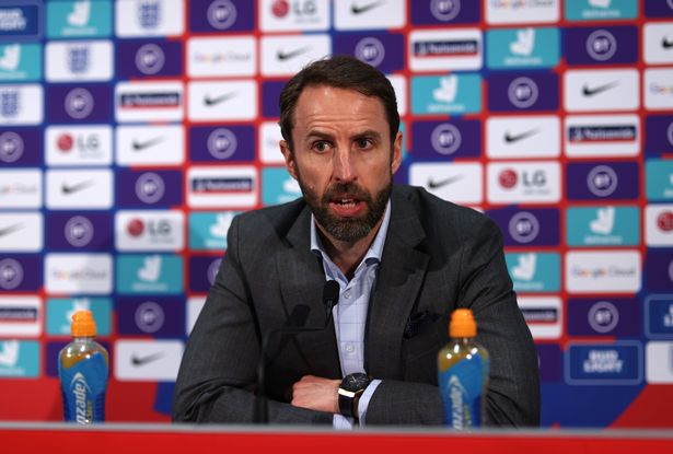 BURTON-UPON-TRENT, ENGLAND - MAY 25: England manager Gareth Southgate announces his provisional squad for UEFA EURO 2020 at St Georges Park on May 25, 2021 in Burton-upon-Trent, England. (Photo by Eddie Keogh - The FA/The FA via Getty Images)