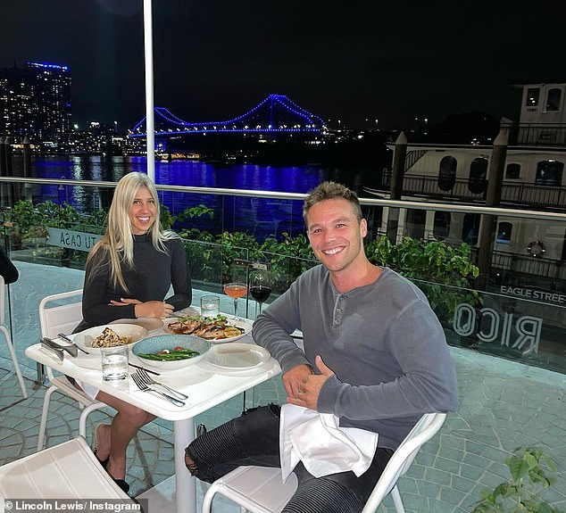 Still in the honeymoon period! Home and Away star Lincoln Lewis and girlfriend Pandora Bonsor looked smitten as they enjoyed a romantic dinner In Brisbane on Wednesday night