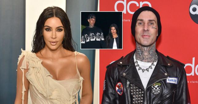 Kim Kardashian and Travis Barker