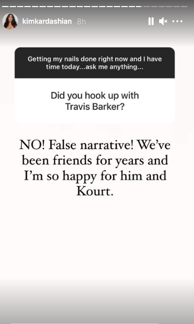 Kim kardashian denies Travis Barker rumour