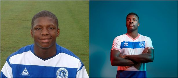Kiyan Prince aged 15 (left), pictured next to a virtual recreation of Kiyan Prince as the 30-year-old pro footballer he'd be today (right)