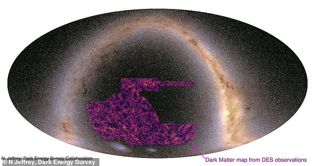 The largest ever map showing where dark matter can be found throughout the universe has been created by astronomers using the light from 100 million galaxies