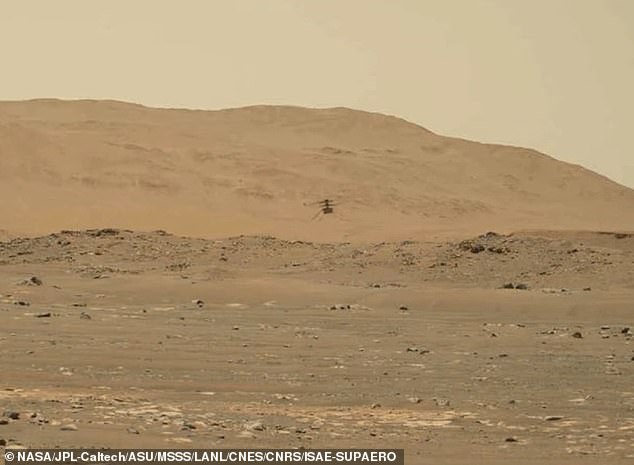 NAS released 'surprising' audio captured from its Perseverance rover, which was parked 262 feet from the helicopter as it soared through the thin Martian atmosphere during its fourth flight on April 30