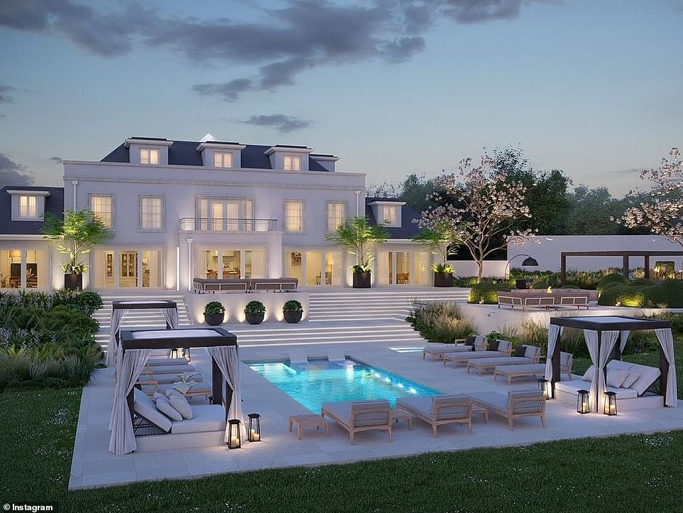 Epic:Mark Wright and Michelle Keega n have shared a glimpse of the plans for the garden in their £1.3m Essex home