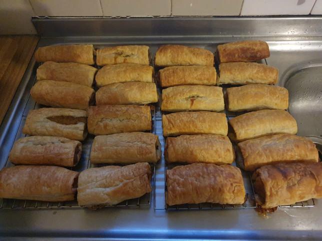 Hidden veg sausage rolls