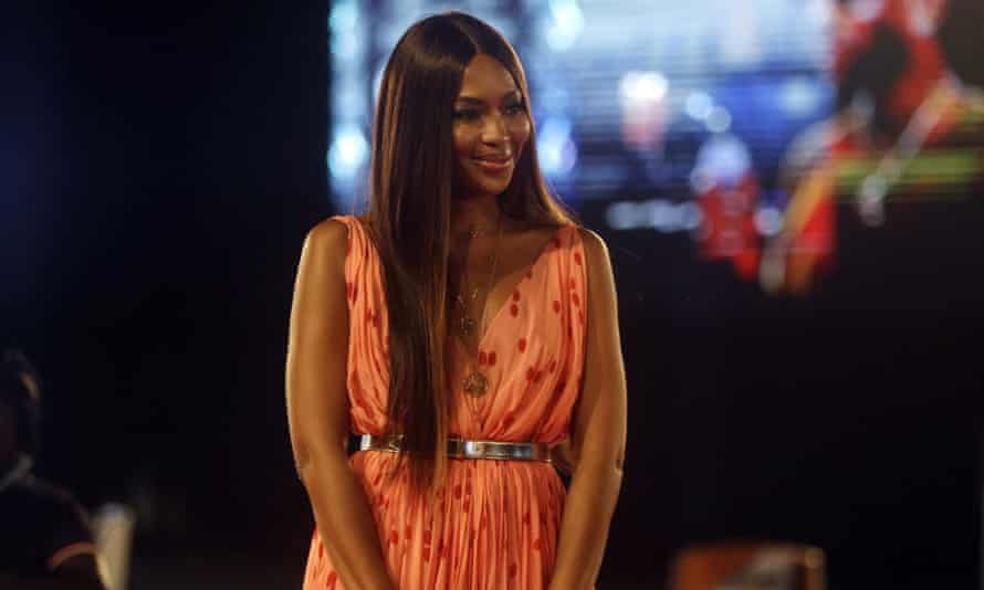 Naomi Campbell at the Arise fashion event in Lagos.