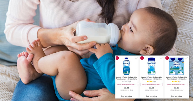 Aptamil and Cow & Gate baby milk formula liquid is sold out in many supermarkets and online stores.
