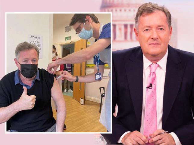 Piers Morgan gets second Covid jab