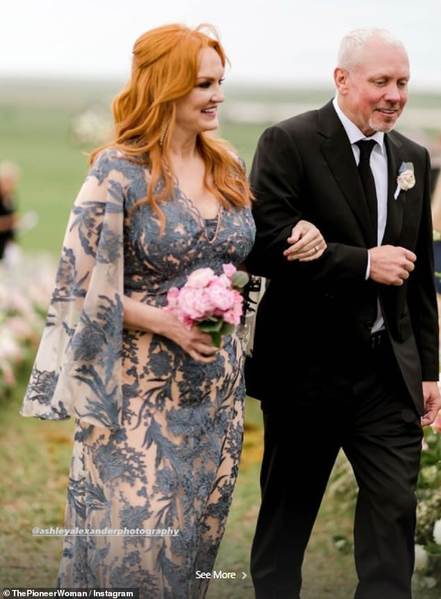 Dressed to impress: Pioneer Woman Ree Drummond revealed how the dress she wore to her daughter's wedding was partially inspired by an episode of the Real Housewives Of New York where the girls fight over the dress designer Jovani