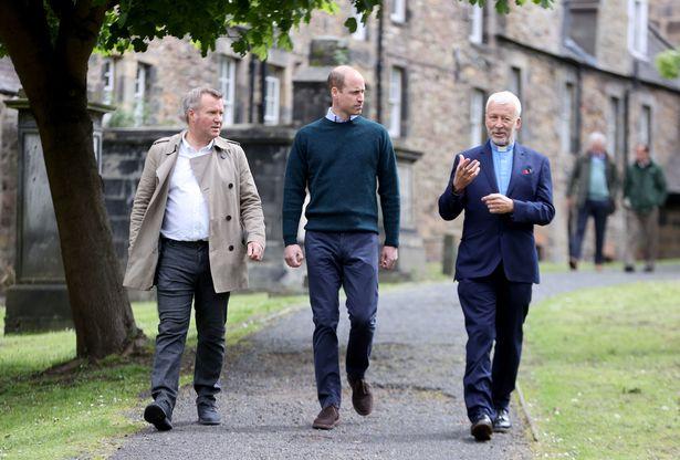 Prince William in Scotland walking with CEO Jonny Kinross