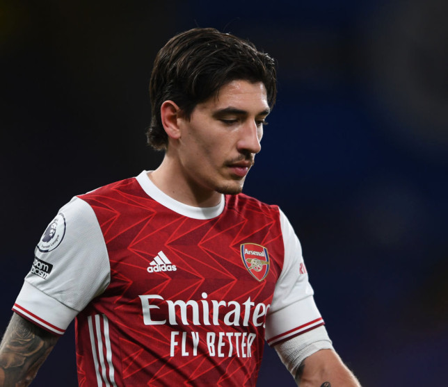 Hector Bellerin looks on during Arsenal's Premier League clash with Chelsea