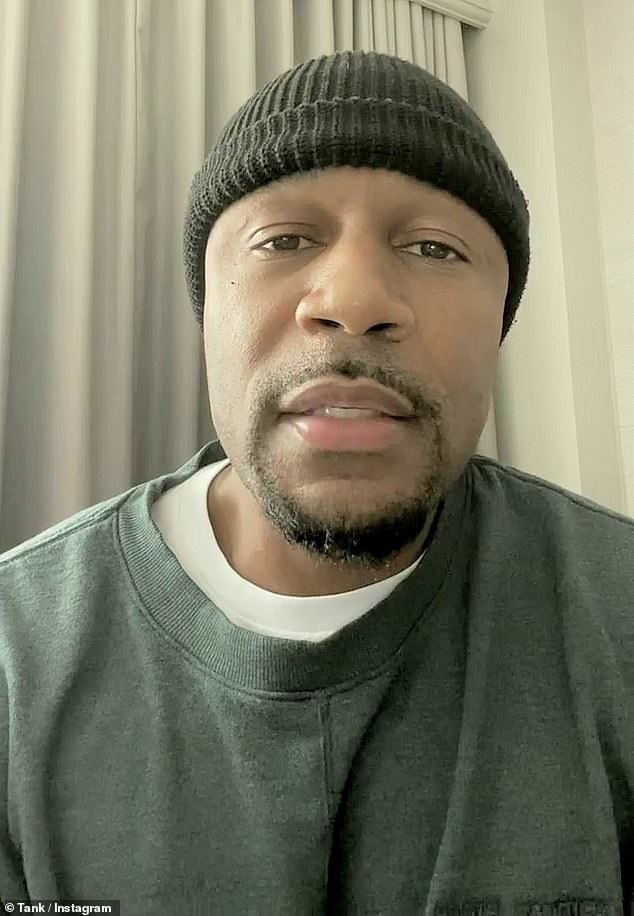 Getting the word out: R&B singer Tank revealed that he has been going deaf and was recently diagnosed with a 'severe case of vertigo' in a pair of videos shared to his Instagram account on Wednesday and Friday