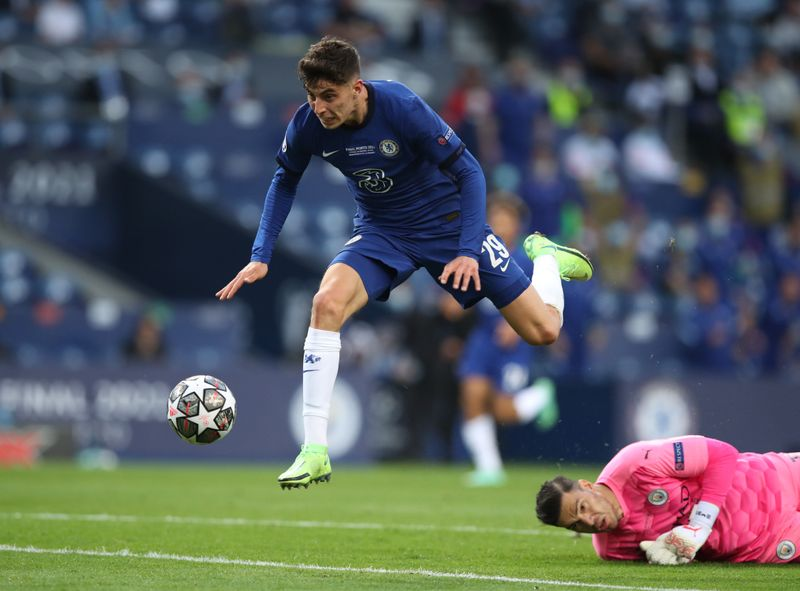 Soccer-Chelsea win Champions League as Havertz goal tames City