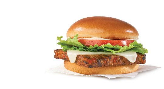 a veggie burger from the wendy's uk menu